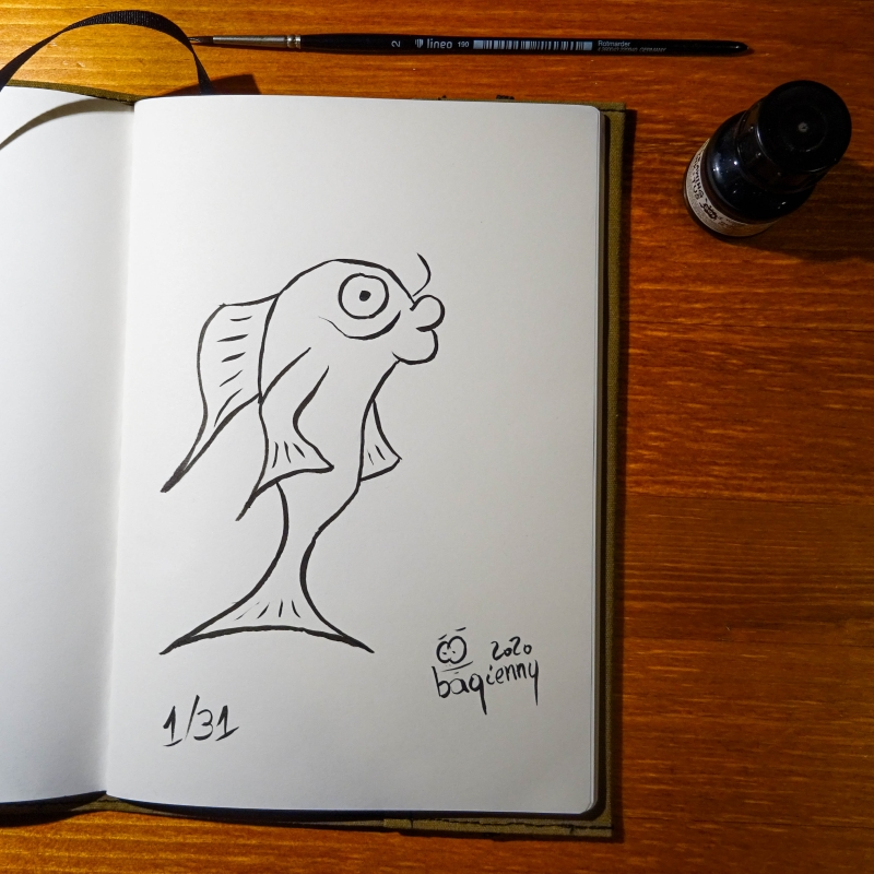 #inktober 1 #fish (picture 2248)