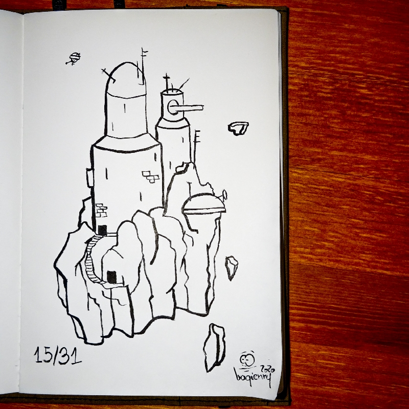 #inktober 15 #outpost (picture 2262)